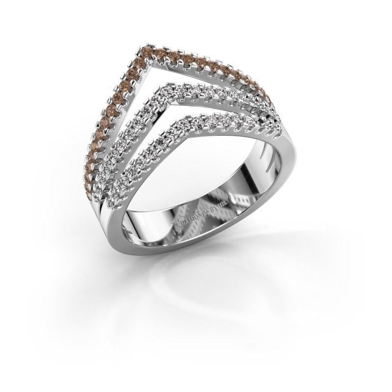 Ring Kendra 950 platinum brown diamond 0.488 crt