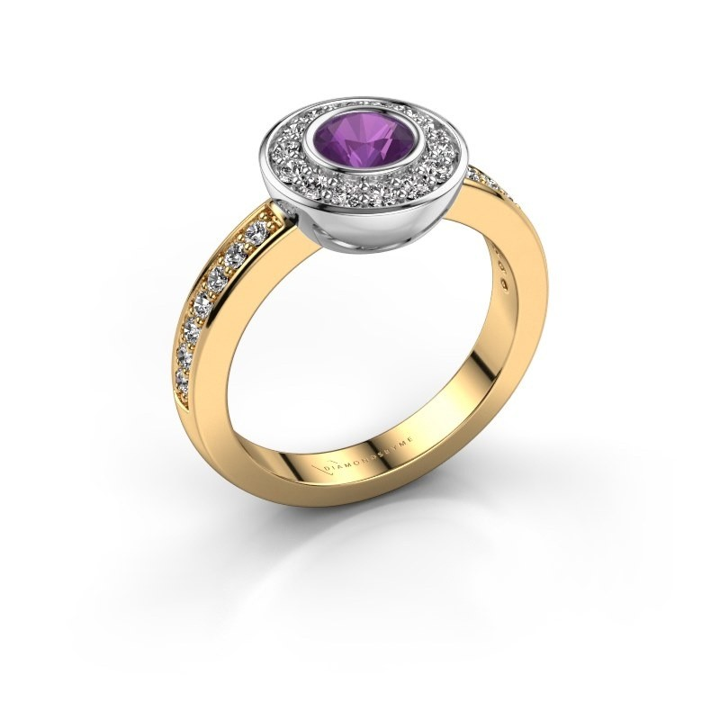 Ring Ivy 585 Gold Amethyst 5 mm