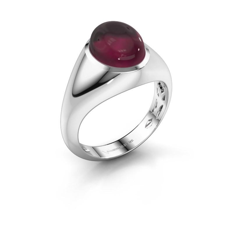 Ring Zaza 950 platina rhodoliet 10x8 mm
