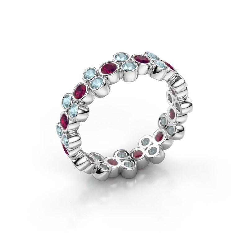 Ring Victoria 950 platina rhodoliet 2.4 mm