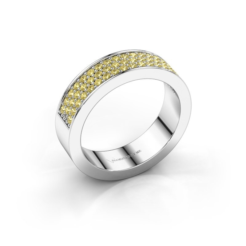 Ring Lindsey 4 585 white gold yellow sapphire 1.3 mm