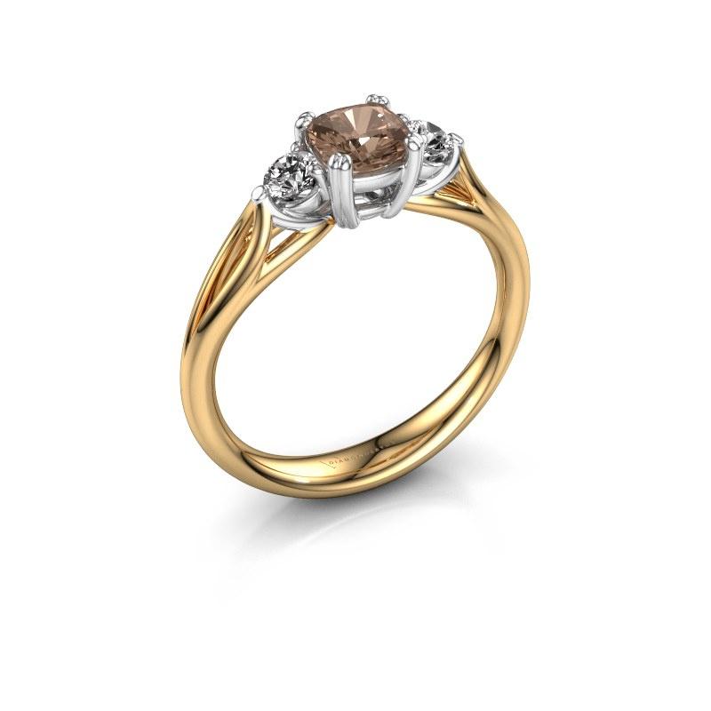 Verlobungsring Amie cus 585 Gold Braun Diamant 0.70 crt