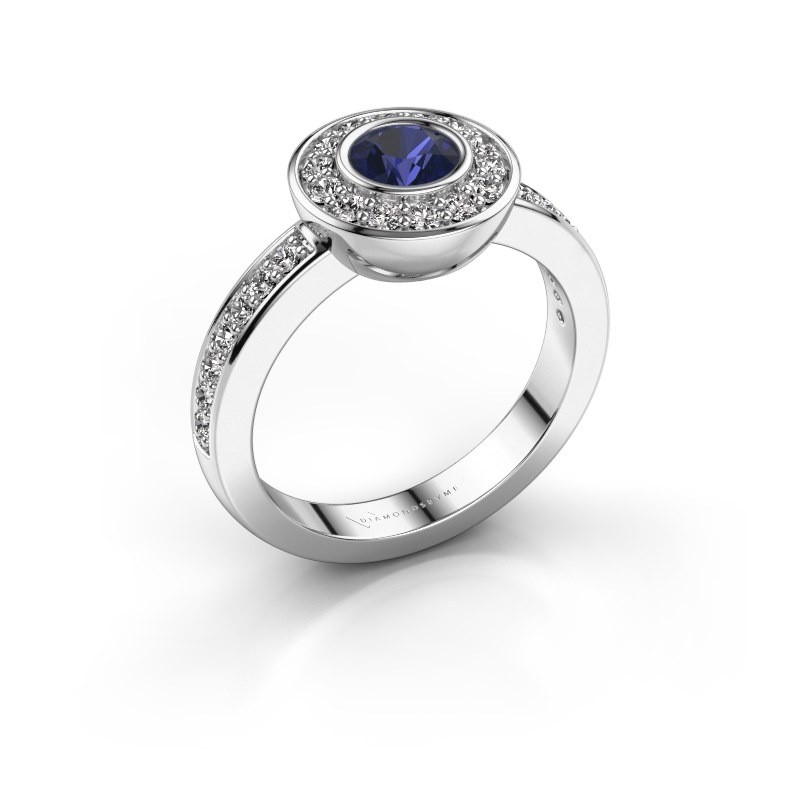 Ring Ivy 925 silver sapphire 5 mm