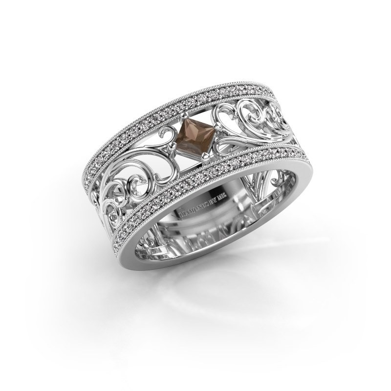 Ring Danae 925 Silber Rauchquarz 3 mm