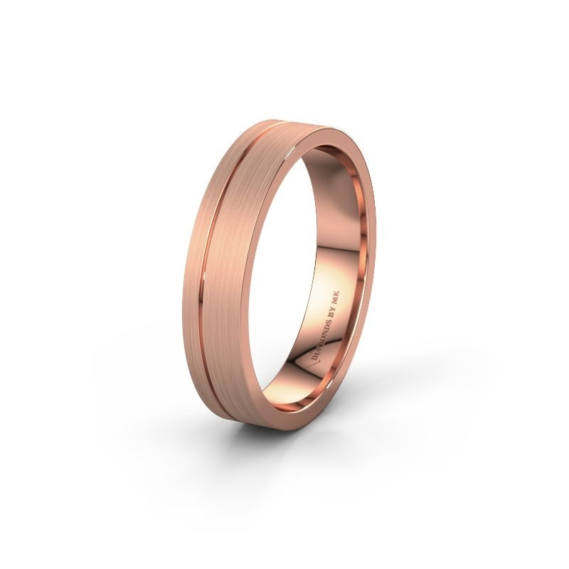 Wedding ring WH0158M14XM 375 rose gold ±4,5x1.5 mm