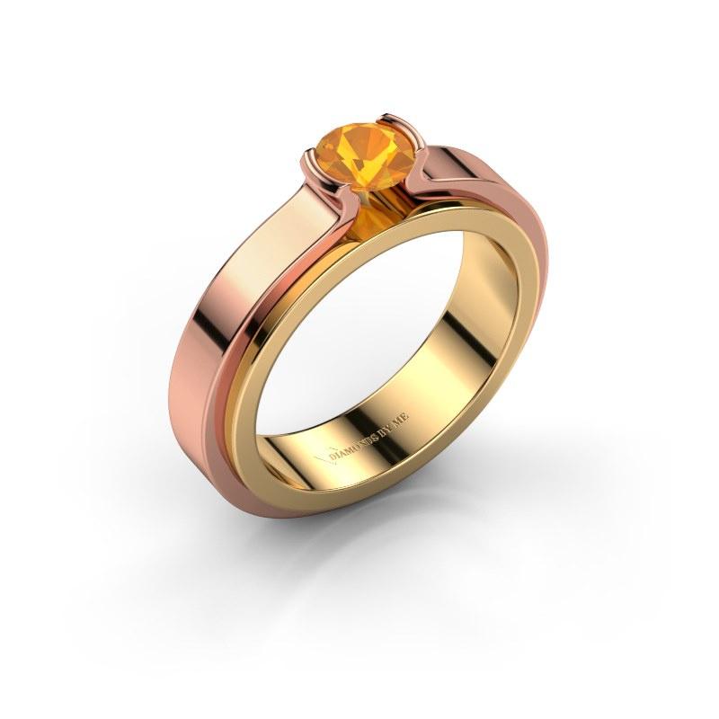 Verlobungsring Jacinda 585 Gold Citrin 4.7 mm
