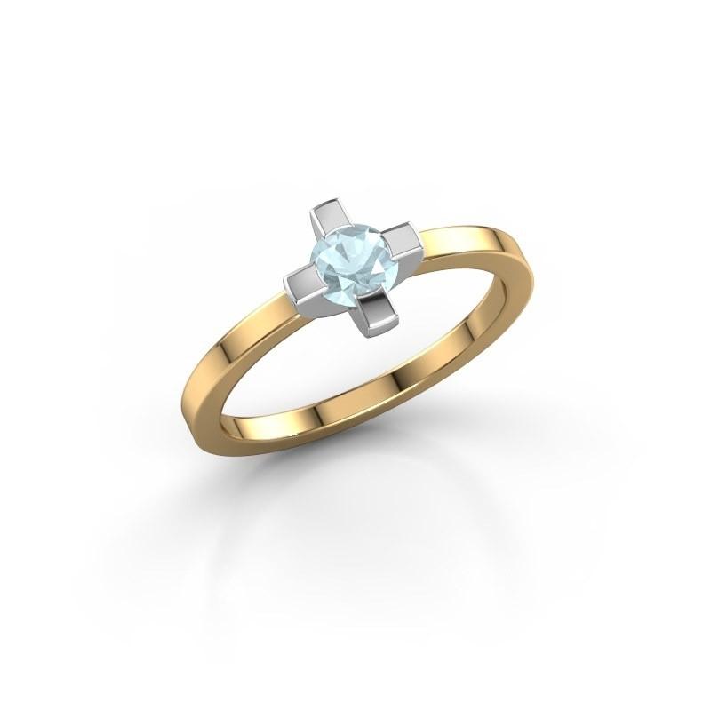 Ring Therese 585 goud aquamarijn 4.2 mm