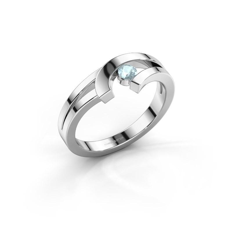 Ring Yentl 925 zilver aquamarijn 3 mm