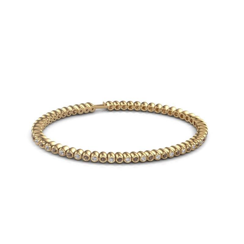Tennisarmband Trix 375 goud rookkwarts 2 mm
