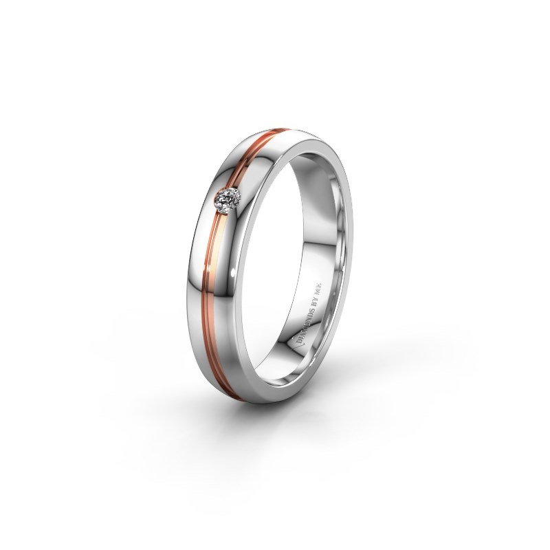 Trouwring WH0424L24A 585 witgoud lab-grown diamant ±4x1.7 mm