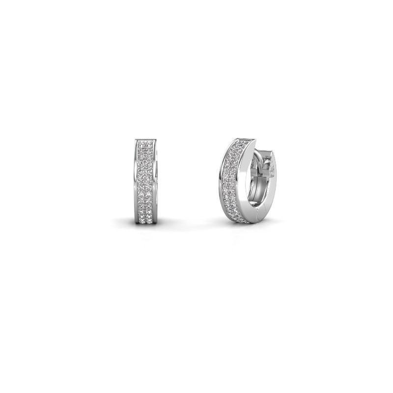 Creolen Renee 2 9 mm 950 platina lab-grown diamant 0.50 crt