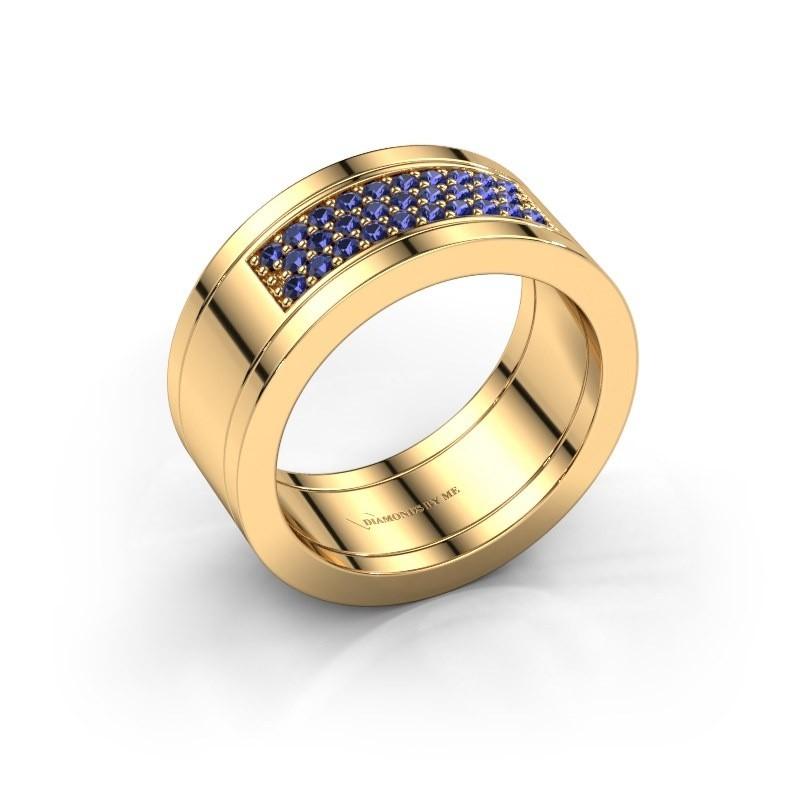 Ring Marita 3 585 gold sapphire 1.3 mm