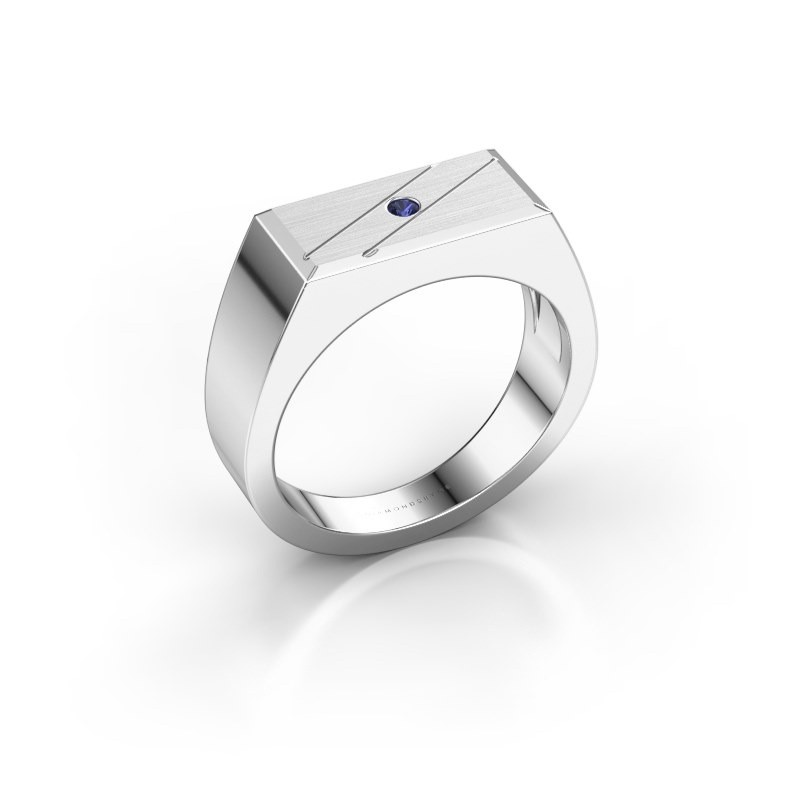 Men's ring Dree 3 925 silver sapphire 2 mm