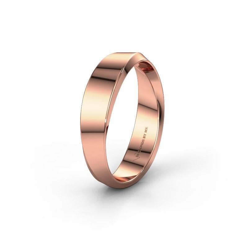 Wedding ring WH2222M14B 375 rose gold ±5x2.3 mm