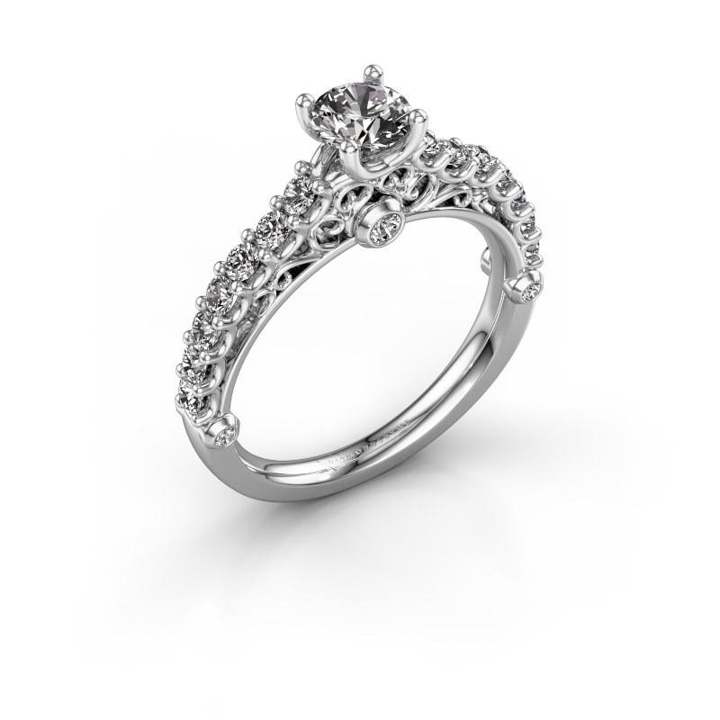Verlovingsring Shaunda 585 witgoud lab-grown diamant 1.00 crt