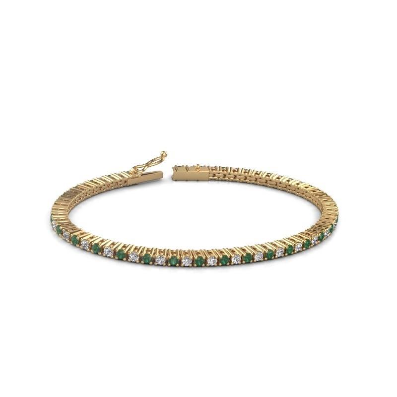 Tennis bracelet Karisma 375 gold emerald 2.4 mm