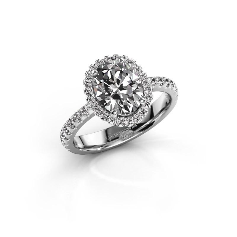 Bague de fiançailles Lavelle 950 platine diamant 2.292 crt