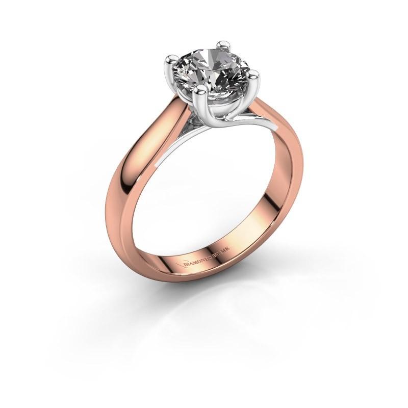 Verlobungsring Mia 1 585 Roségold Diamant 1.00 crt