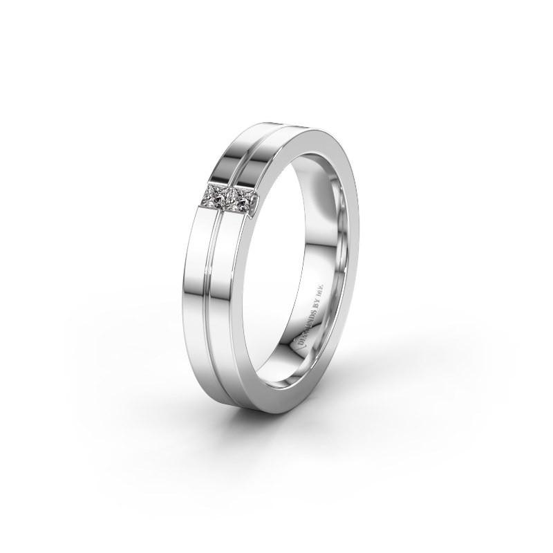 Trouwring WH0225L14B 925 zilver diamant ±4x2 mm