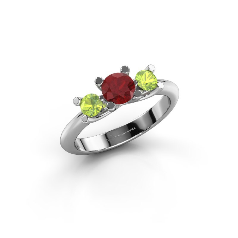 Ring Mirthe 950 platinum ruby 5 mm