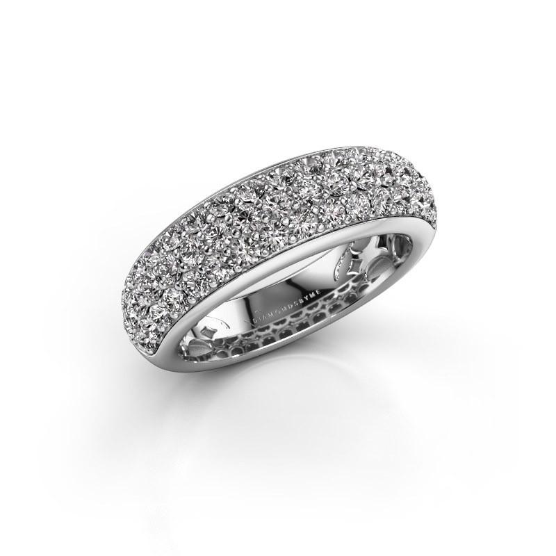 Ring Emely 8 585 witgoud diamant 1.316 crt