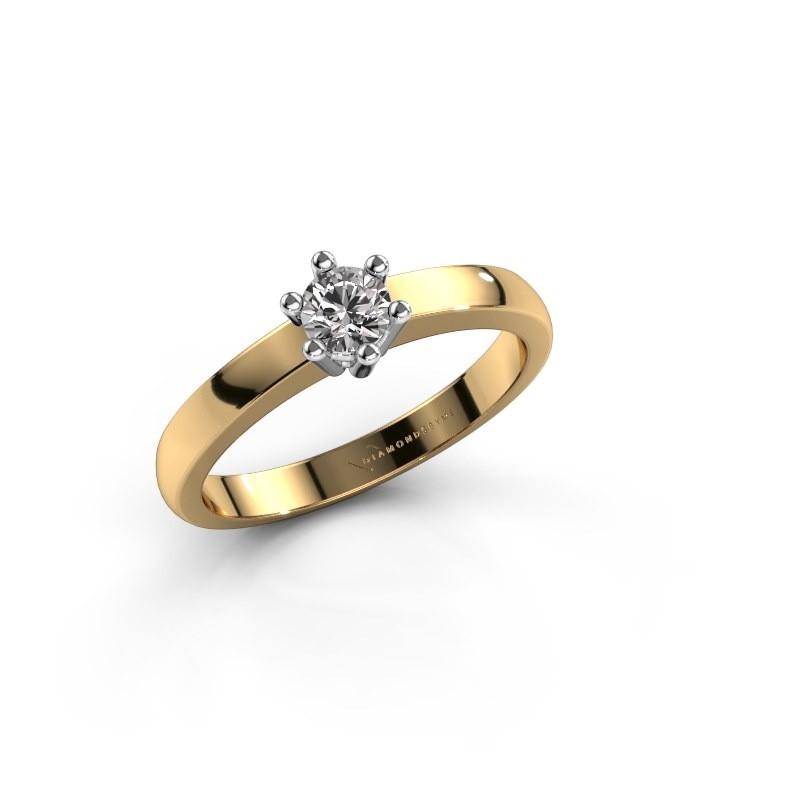 Verlovingsring Luna 1 585 goud lab-grown diamant 0.20 crt