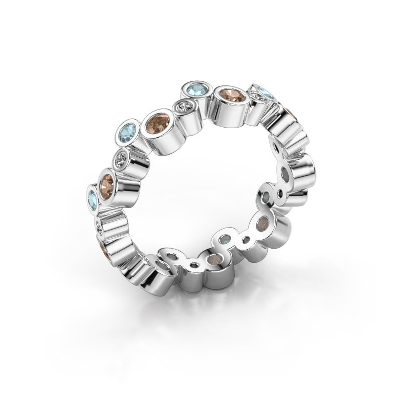 Ring Tessa 585 witgoud bruine diamant 0.675 crt