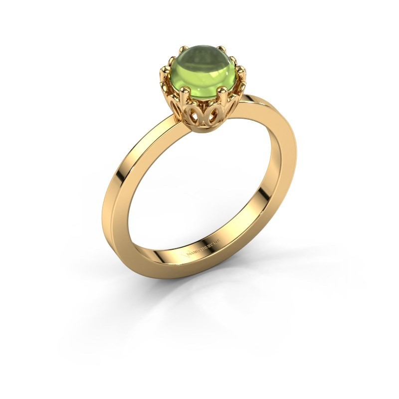 Ring Marly 585 goud peridoot 6 mm