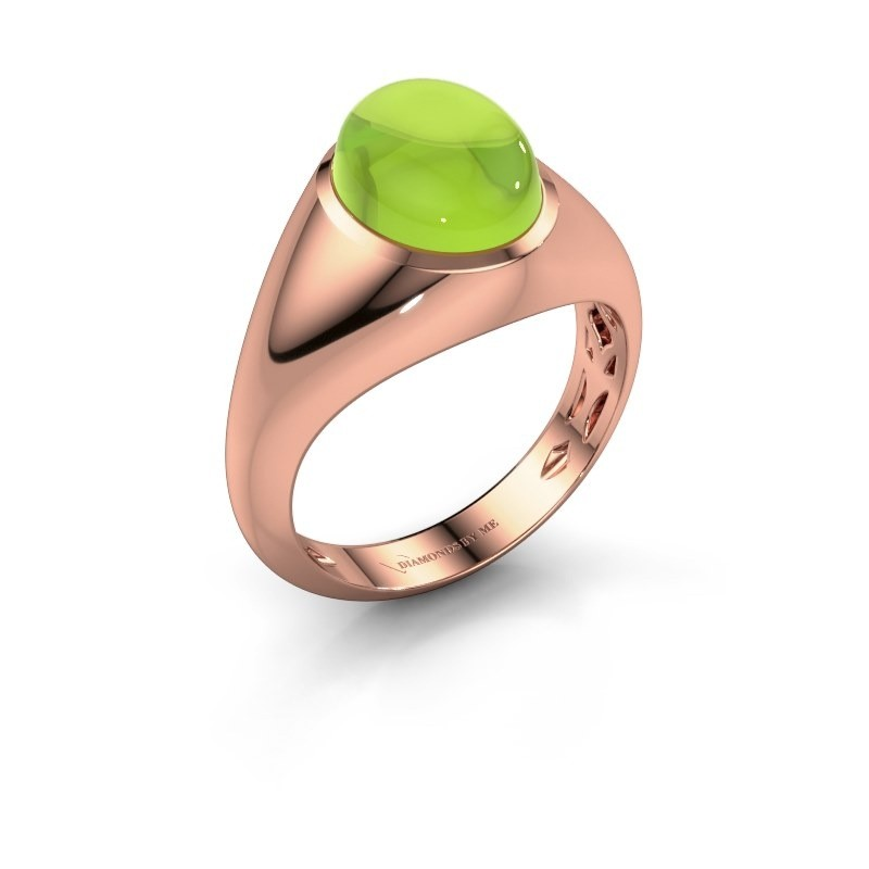 Ring Zaza 375 rosé goud peridoot 10x8 mm