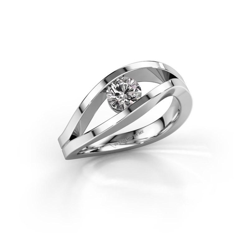 Aanzoeksring Sigrid 1 950 platina diamant 0.50 crt