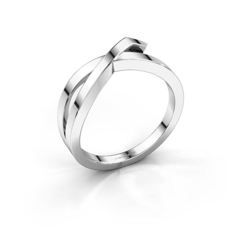 Bague Alyssa 925 argent diamant noir 0.036 crt