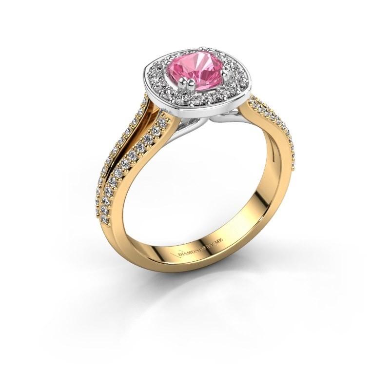 Engagement ring Carolina 2 585 gold pink sapphire 5 mm