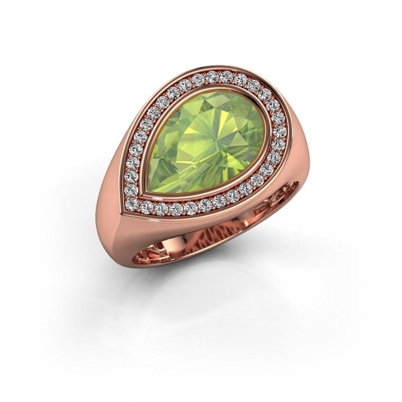 Ring Latashia 375 rosé goud peridoot 12x8 mm