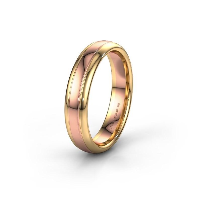 Trouwring WH2128M 585 rosé goud ±5x2.2 mm