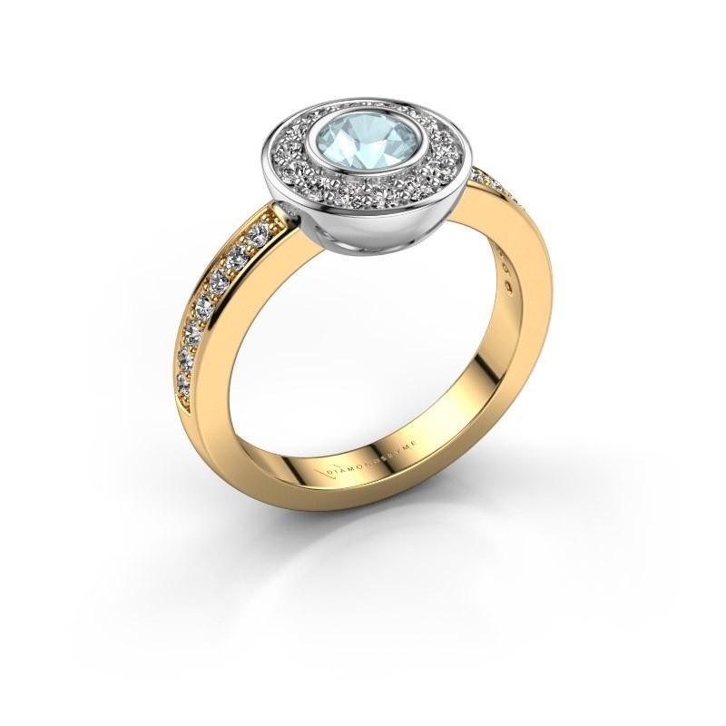 Ring Ivy 585 Gold Aquamarin 5 mm