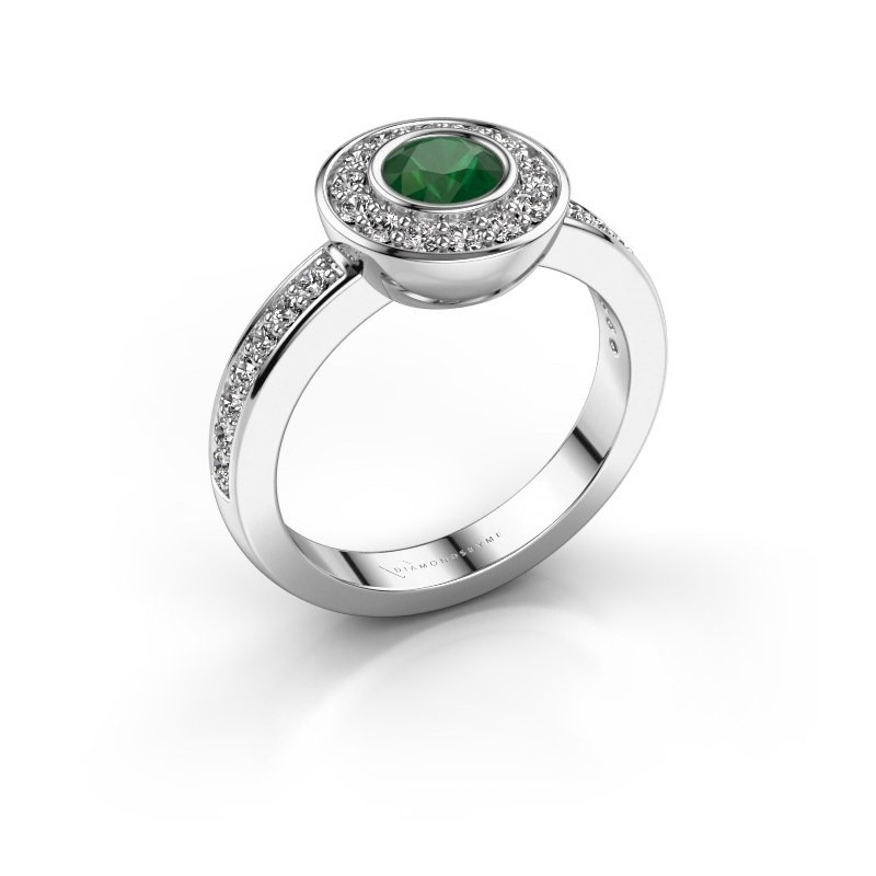 Ring Ivy 925 silver emerald 5 mm