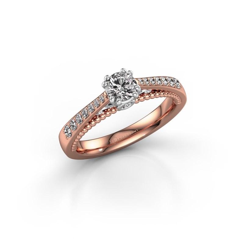 Verlovingsring Rozella 585 rosé goud lab-grown diamant 0.518 crt