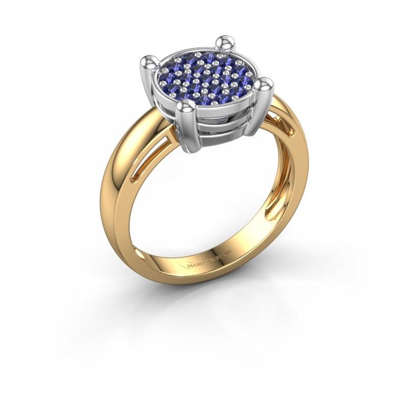 Ring Dina 585 goud saffier 1.6 mm
