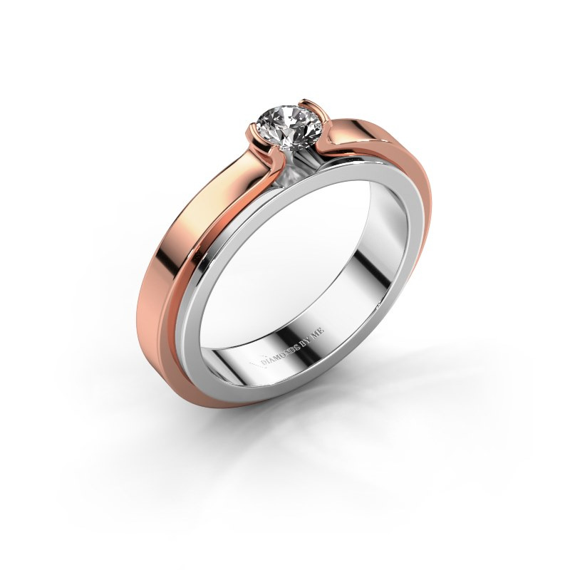 Verlobungsring Jacinda 585 Weißgold Diamant 0.30 crt