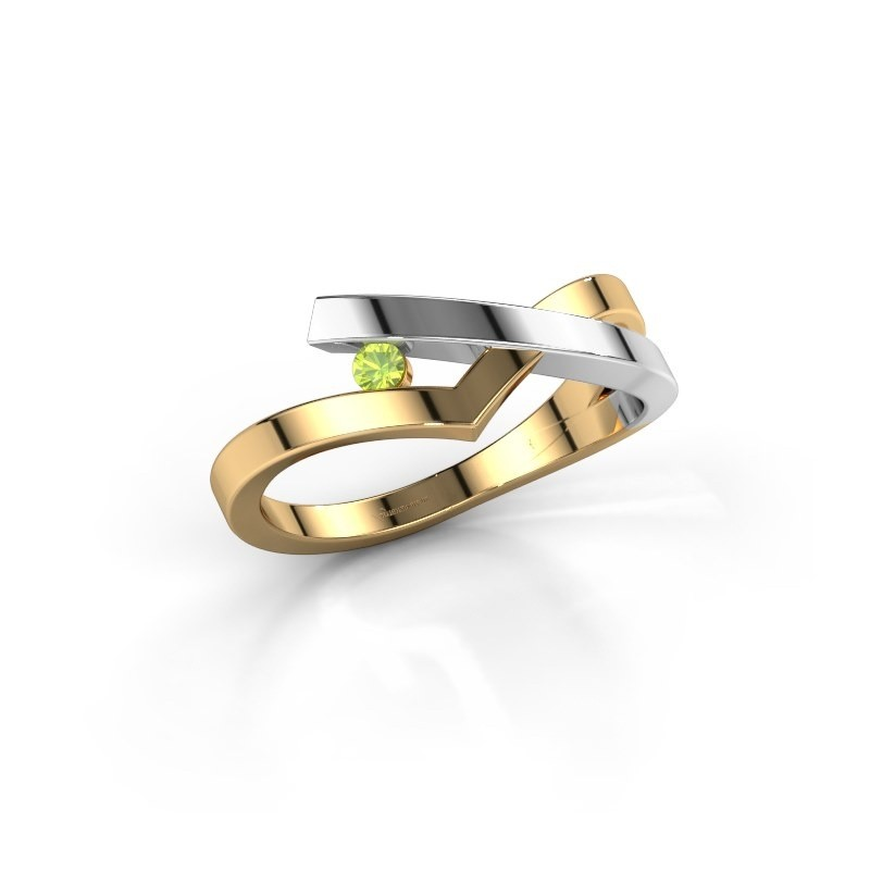 Ring Pamella 585 goud peridoot 2.2 mm