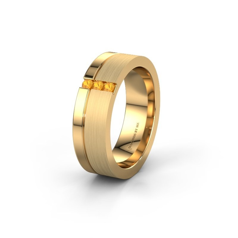 Trouwring WH0327L16B 585 goud citrien ±6x2 mm