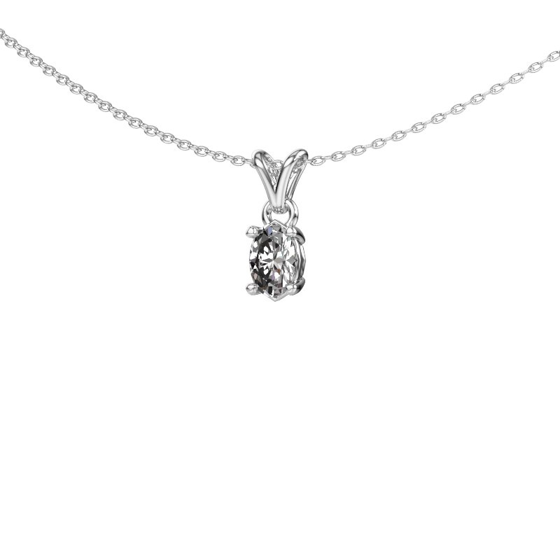 Ketting Lucy 1 585 witgoud diamant 0.50 crt