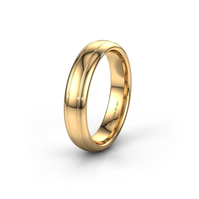 Trouwring WH2128M 585 goud ±5x2.2 mm