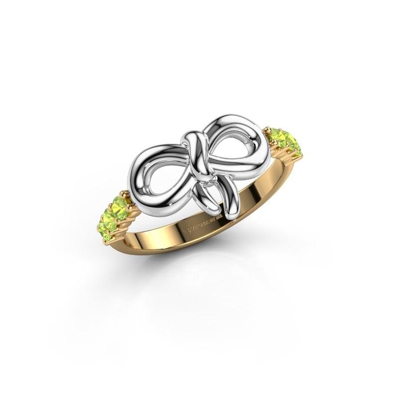 Ring Olympia 585 goud peridoot 2.2 mm