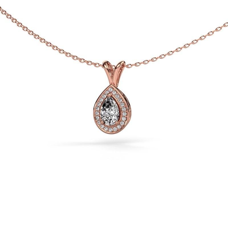 Ketting Ginger 375 rosé goud diamant 0.505 crt