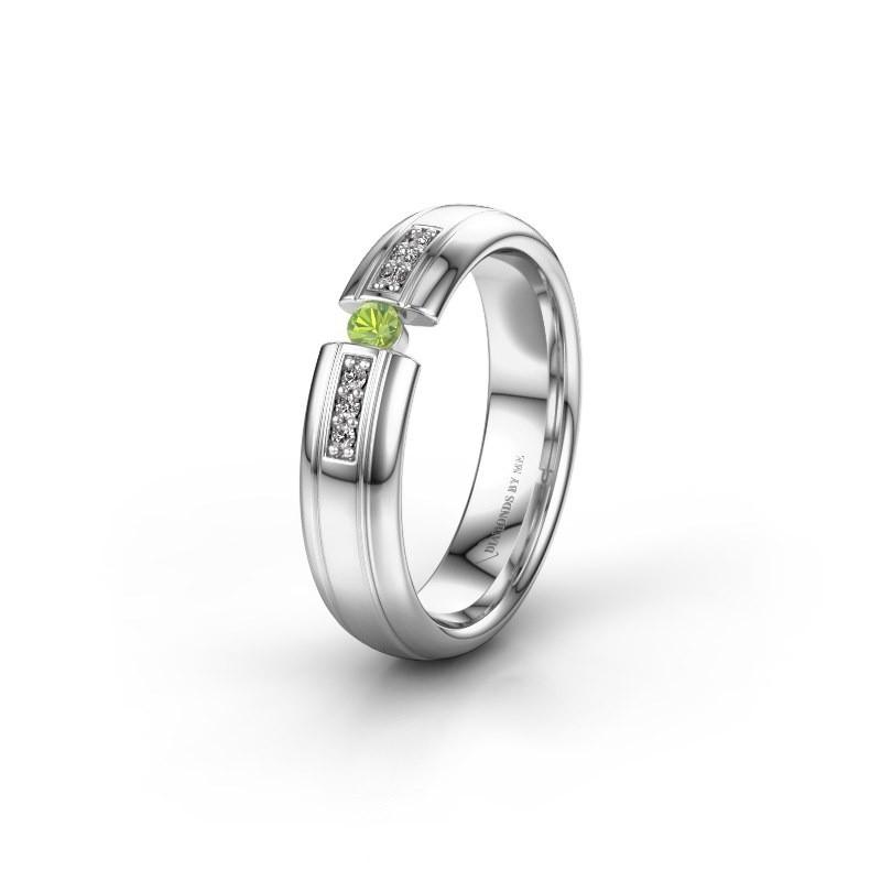 Wedding ring WH2128L26C 925 silver peridot ±5x2 mm