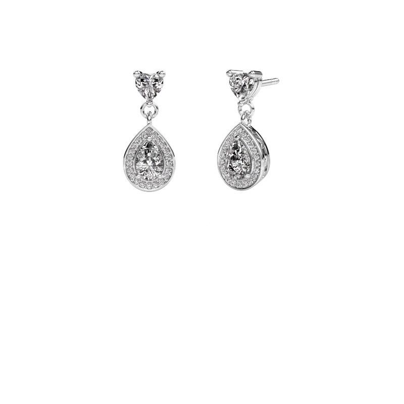 Drop earrings Susannah 950 platinum diamond 1.51 crt