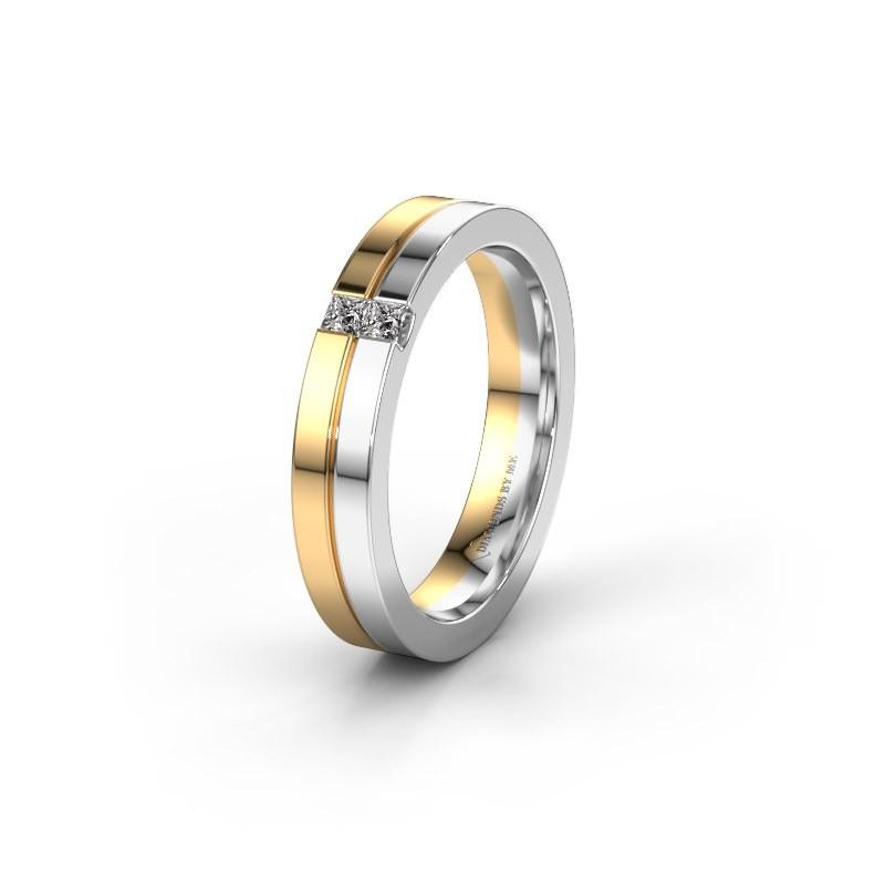 Trouwring WH0225L14B 585 goud diamant ±4x2 mm