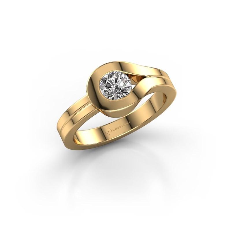 Ring Kiki 585 goud diamant 0.10 crt