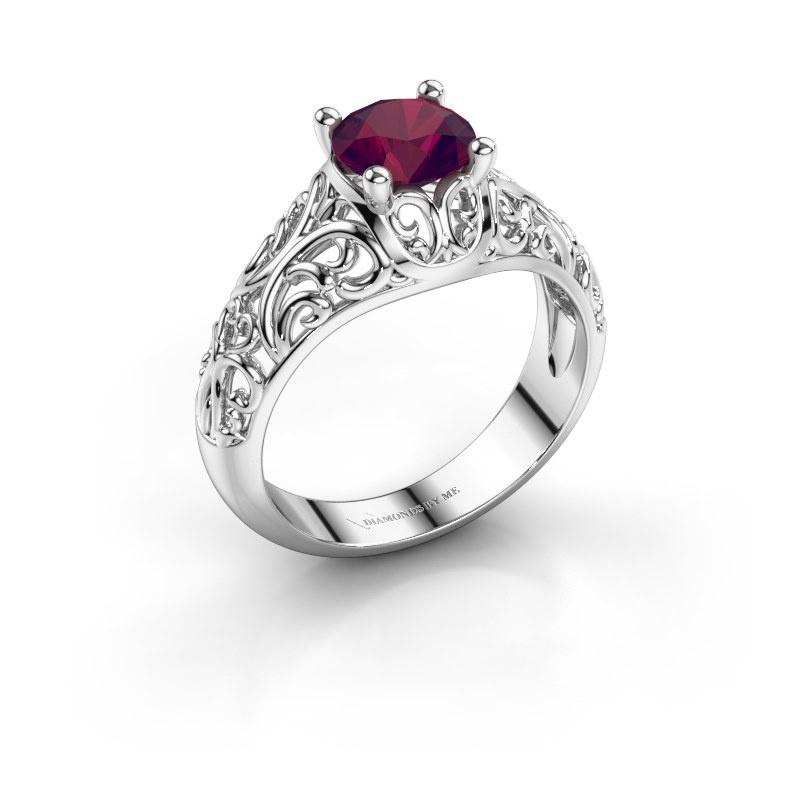 Ring Mirte 950 platina rhodoliet 6.5 mm